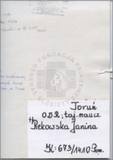 Rekowska Janina