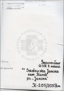 Sadowska Janina