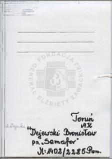Dejewski Bronisław