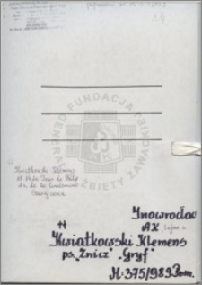 Kwiatkowski Klemens