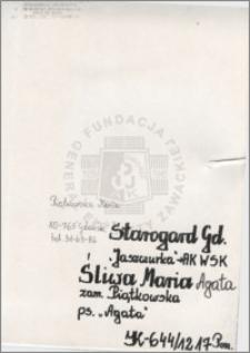Śliwa Maria Agata