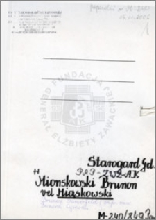 Mionskowski Brunon