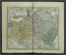 Charta Ducatus Megapolensis ad statum hodiernum in suas provincias et praefecturas