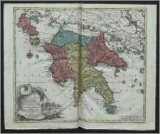 Regnum Moreae accurati accuratissime divisum in provincias Saccaniam, Tzaconiam, Caliscopium et Ducatum Clarensae