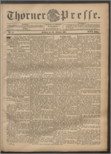 Thorner Presse 1900, Jg. XVIII, Nr. 47 + Beilage