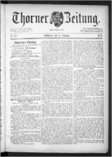 Thorner Zeitung 1891, Nr. 17