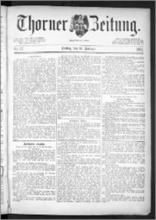 Thorner Zeitung 1891, Nr. 37