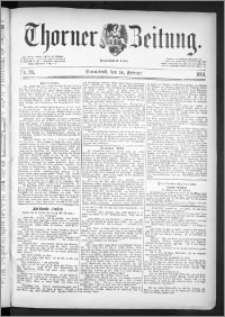 Thorner Zeitung 1891, Nr. 38