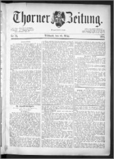 Thorner Zeitung 1891, Nr. 71