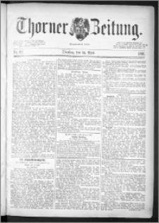 Thorner Zeitung 1891, Nr. 92