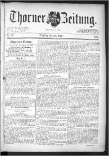 Thorner Zeitung 1891, Nr. 97