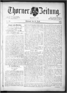 Thorner Zeitung 1891, Nr. 98
