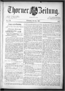 Thorner Zeitung 1891, Nr. 174