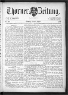 Thorner Zeitung 1891, Nr. 190 + Beilage