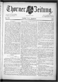 Thorner Zeitung 1891, Nr. 209