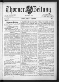 Thorner Zeitung 1891, Nr. 226 + Beilage