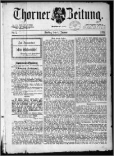 Thorner Zeitung 1892, Nr. 1 + Beilage