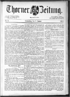 Thorner Zeitung 1892. Nr. 5