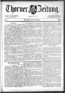 Thorner Zeitung 1892. Nr. 7