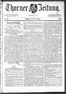 Thorner Zeitung 1892. Nr. 21