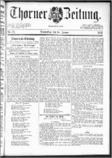 Thorner Zeitung 1892. Nr. 23