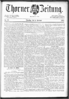 Thorner Zeitung 1892. Nr. 27