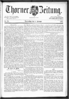 Thorner Zeitung 1892. Nr. 29 + Beilage