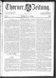 Thorner Zeitung 1892. Nr. 32 + Extra-Beilage