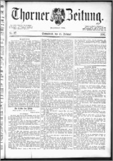 Thorner Zeitung 1892. Nr. 37