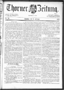 Thorner Zeitung 1892. Nr. 38 + Beilage