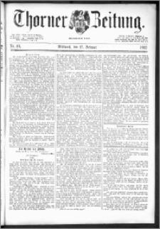Thorner Zeitung 1892. Nr. 40