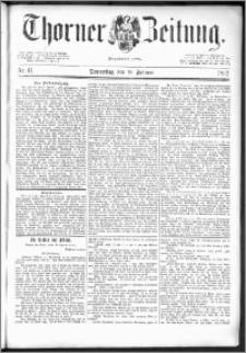 Thorner Zeitung 1892. Nr. 41