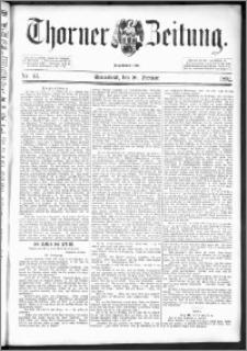 Thorner Zeitung 1892. Nr. 43