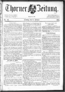 Thorner Zeitung 1892. Nr. 44 + Beilage
