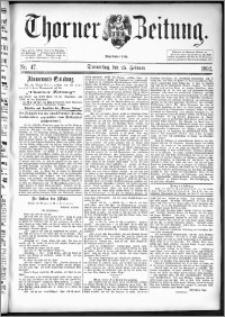 Thorner Zeitung 1892. Nr. 47