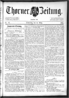Thorner Zeitung 1892. Nr. 71