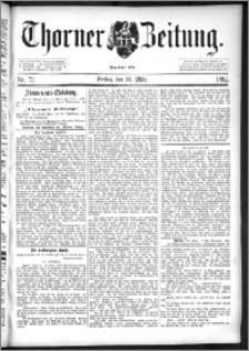 Thorner Zeitung 1892. Nr. 72