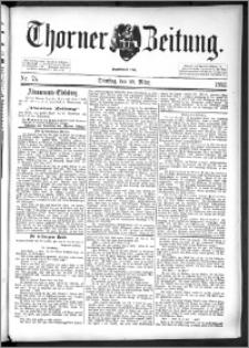 Thorner Zeitung 1892. Nr. 75