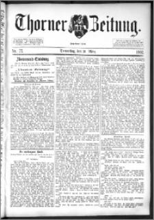 Thorner Zeitung 1892. Nr. 77