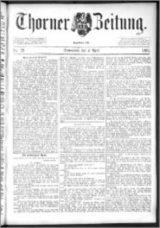 Thorner Zeitung 1892. Nr. 79