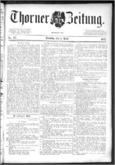 Thorner Zeitung 1892. Nr. 80 + Beilage