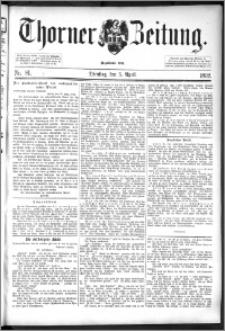 Thorner Zeitung 1892. Nr. 81