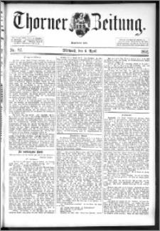 Thorner Zeitung 1892. Nr. 82