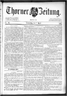 Thorner Zeitung 1892. Nr. 83