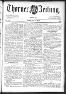 Thorner Zeitung 1892. Nr. 84