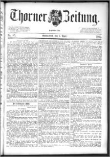 Thorner Zeitung 1892. Nr. 85