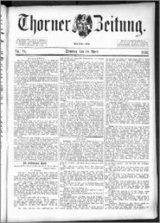 Thorner Zeitung 1892. Nr. 86 + Beilage