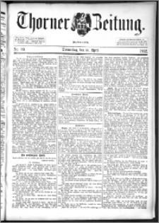 Thorner Zeitung 1892. Nr. 89