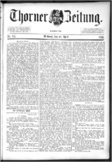 Thorner Zeitung 1892. Nr. 92