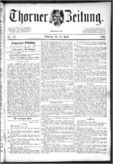 Thorner Zeitung 1892. Nr. 96 + Beilage